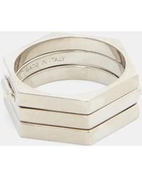 Valentino - Secret Two Way Ring In Silver - Lyst