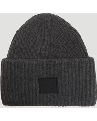 Acne Studios Pansy N Face Knit Hat In Grey - Gray