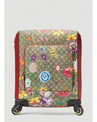 Gucci GG Flora Carry-on Suitcase - Brown