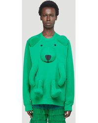 Walter Van Beirendonck Bear Sweatshirt - Green