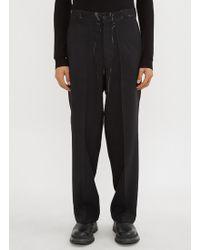 Prada - Wide Leg Trousers In Black - Lyst