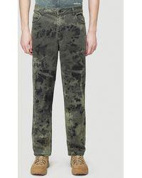 Eckhaus Latta Tie-dye Jeans - Green