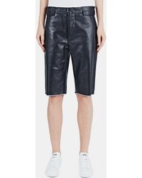Haal - Women's Diana Long Leather Shorts In Black - Lyst