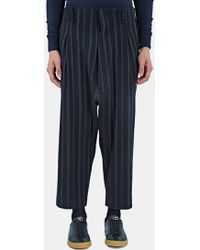 Mohsin - Men's Our Striped Dropped Crotch Pants In Navy - Lyst