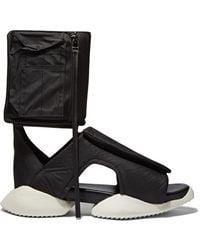 1ae2971c640 Rick Owens - X Adidas Men s Velcro Strap Ro Cargo Sandals In Black - Lyst