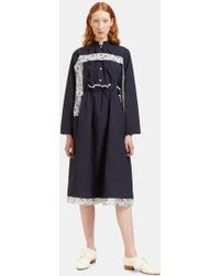 Renli Su Women's Oversized Lace Detailed Overall Dress In Navy - Blue