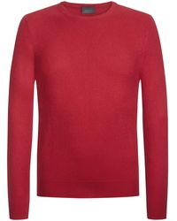Lodenfrey R-Neck Pullover - Rot