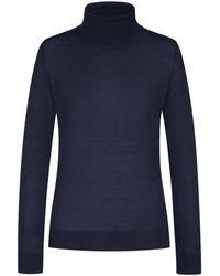 Lodenfrey Rollkragen-Pullover - Blau