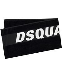 DSquared² Handtuch - Schwarz