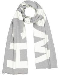 Woolrich Piquet Wool Schal - Grau