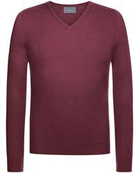 Lodenfrey V-Neck Pullover - Pink