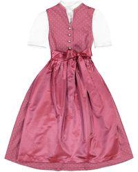 Lodenfrey Mädchen-Dirndl mit Bluse und Seidenschürze - Pink