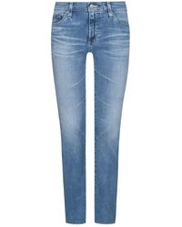 AG Jeans The Mari Jeans High Rise Straight - Blau