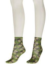 Maria La Rosa Blooming Socken - Grün