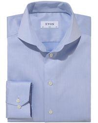 Eton of Sweden Businesshemd Slim - Blau