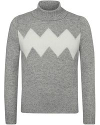 Gran Sasso Rollkragen-Pullover - Grau