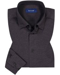 Eton of Sweden Jerseyhemd - Grau