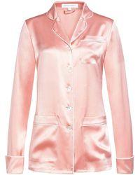 Olivia Von Halle Coco Seiden-Pyjama - Pink