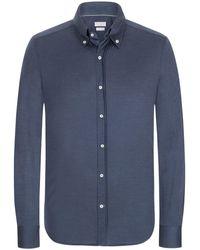 Brunello Cucinelli Jerseyhemd - Blau