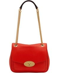 Mulberry Small Darley Schultertasche - Rot