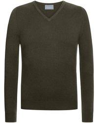 Lodenfrey V-Neck Pullover - Grün