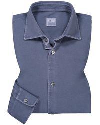 Fedeli Steve ML Jerseyhemd - Blau