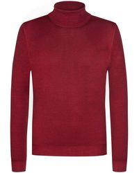 Gran Sasso Rollkragen-Pullover - Rot