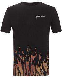 Palm Angels T-Shirt Tiger Flames - Schwarz