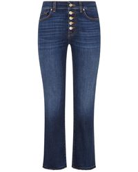 7 For All Mankind - The Straight 7/8-Jeans Crop - Lyst