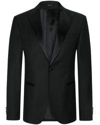 Z Zegna Tailor Drop 8 Anzug Slim Fit - Schwarz