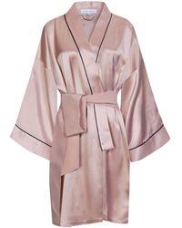 Olivia Von Halle Mimi Seiden-Kimono - Mehrfarbig