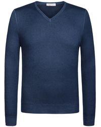 Gran Sasso Cashmere-Pullover - Blau