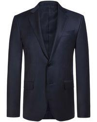 Ermenegildo Zegna Milano Slim Fit Anzug - Blau