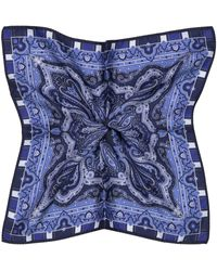Etro Seiden-Einstecktuch - Blau