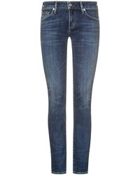 Citizens of Humanity Racer Jeans Low Rise Skinny - Blau