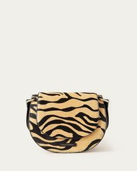 Loeffler Randall Cecil Leather Saddle Bag Tiger - Multicolor