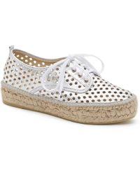 Loeffler Randall - Alfie Perforated Espadrille Sneaker - Lyst