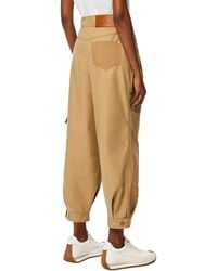 Loewe Luxury Balloon Trousers In Cotton - Natural