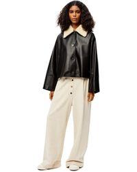 Loewe Luxury Shearling Collar Jacket In Nappa And Shearling - Black