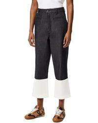 Loewe Luxury Fisherman Jeans In Stone Washed Denim - Blue