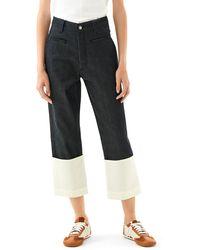 Loewe Luxury Fisherman Jeans In Cotton - Blue