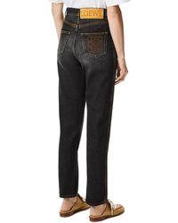 Loewe Luxury Tapered Jeans In Denim - Black