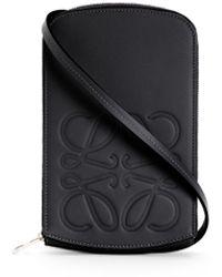 Loewe Luxury Brand Multi-functional Case In Smooth Calfskin - Black