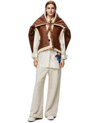 Loewe Luxury Oversize Vest In Shearling - Brown