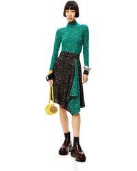 Loewe Luxury Sequin Knit Skirt In Wool Mohair - Multicolour