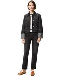 Loewe Luxury Button Jacket In Denim - Black