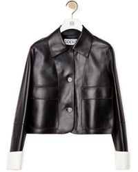 Loewe Luxury Button Jacket In Nappa - Black