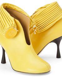 Loewe Luxury Bracelet Ankle Boot In Lambskin - Yellow