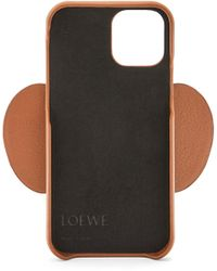 Loewe Luxury Elephant Phone Cover In Calfskin For Iphone 12 Pro - Multicolour