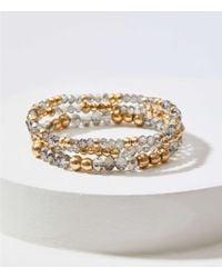 LOFT - Gilded Beaded Stretch Bracelet Set - Lyst